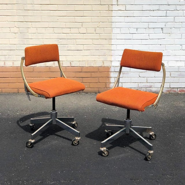 1950s Vintage DoMore Industrial Office Chairs- a Pair For Sale In Richmond - Image 6 of 6