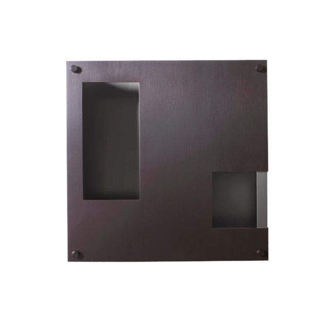 Modern Contemporary 001 Sconce in Blackened Brass by Orphan Work For Sale