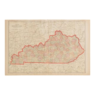 Cram's 1907 Map of Kentucky