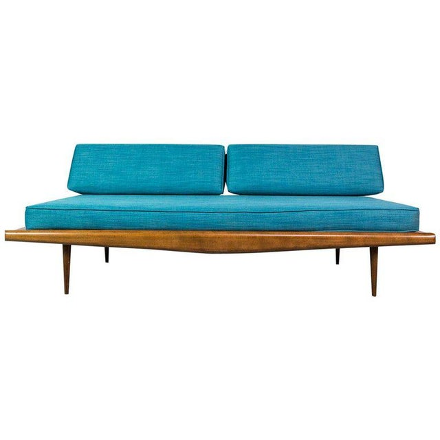 Fabric American Design Daybed in Walnut by Adrian Pearsall For Sale - Image 7 of 7