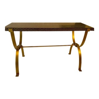 1980s Hollywood Regency Console Table For Sale