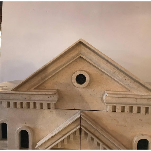 Late 20th Century Maitland Smith Greek Revival Sandstone Bar on Stand For Sale - Image 5 of 11