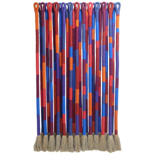 'Color Noise' by Fiber Artist Jane Knight, 1928-2013 For Sale In Dallas - Image 6 of 6