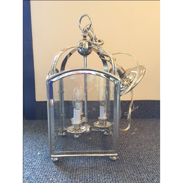 Visual Comfort Arch Top Mini Lantern in Nickel For Sale In Washington DC - Image 6 of 7