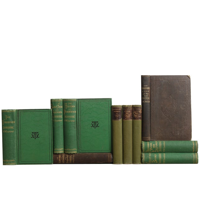 Antique Green & Black Books - Set of 10 - Image 2 of 2