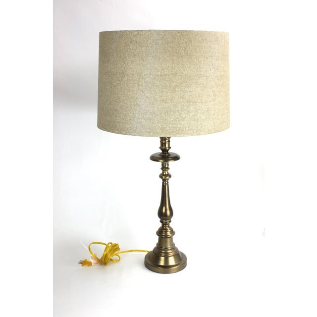 Stiffel Brass Candlestick Table Lamp - Image 3 of 7