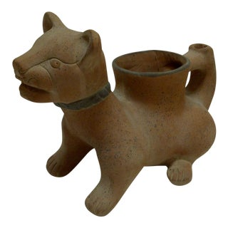 Pre-Columbian Cat Vase For Sale