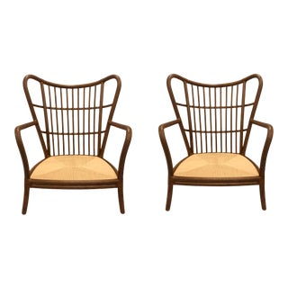 Baker McGuire Organic Modern Shipley Lounge Chairs - a Pair For Sale