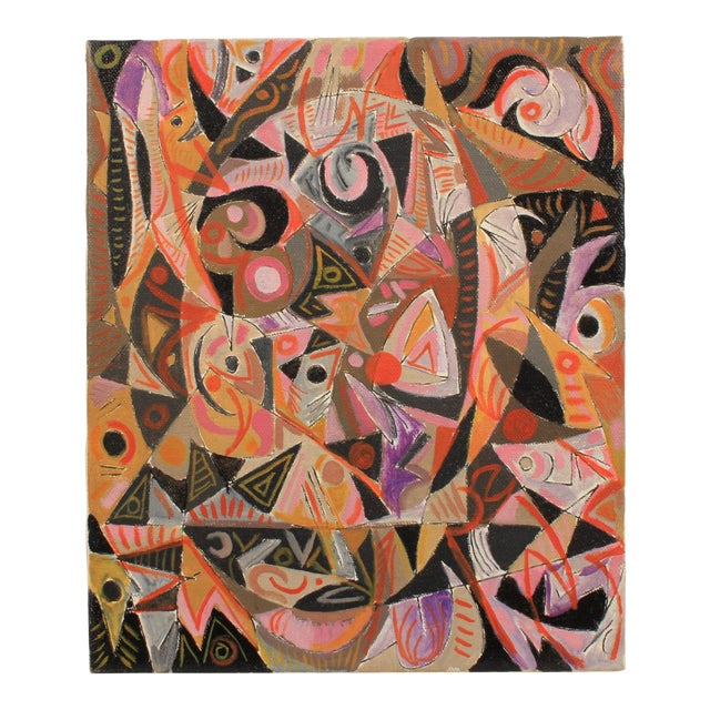 1982 Lively Abstract Composition by Lars Larsen For Sale