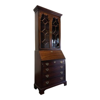 Thomasville Cherry Chippendale Secretary Desk For Sale
