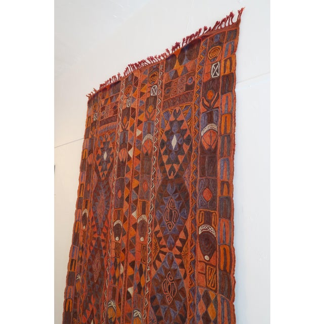 "Vintage Samawa Woven Rug - 59"" x 98"" For Sale - Image 4 of 6"