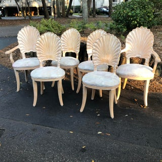 Vintage Clam Shell Grotto Chairs - Set of 6 Preview
