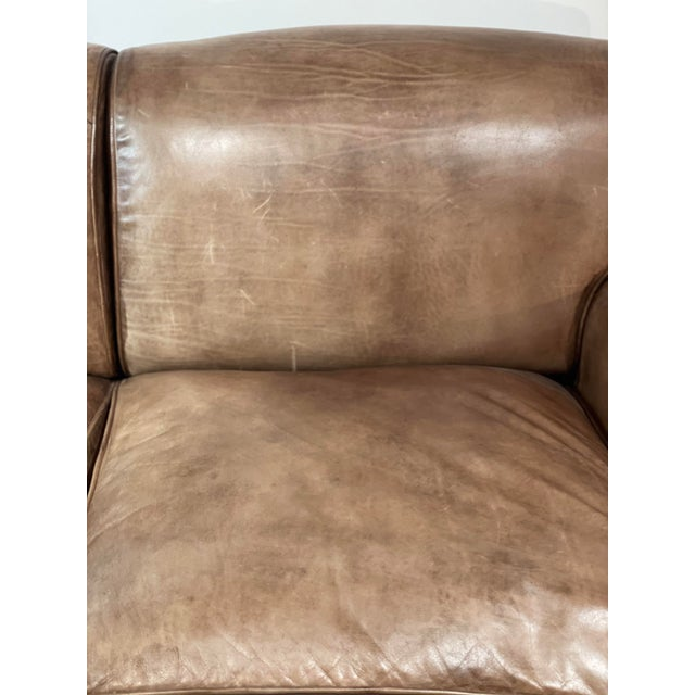 Tan George Smith Leather Sofa For Sale - Image 8 of 12