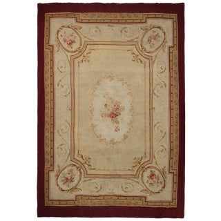 Late 19th Century French Aubusson Rug-9′ × 13′1″ For Sale