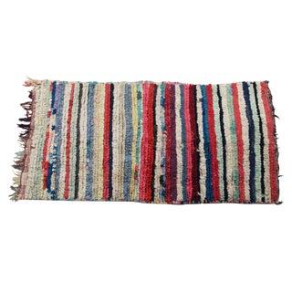 "Vintage Boucherouite Moroccan Rug Rag - 3'5""x6'3"""