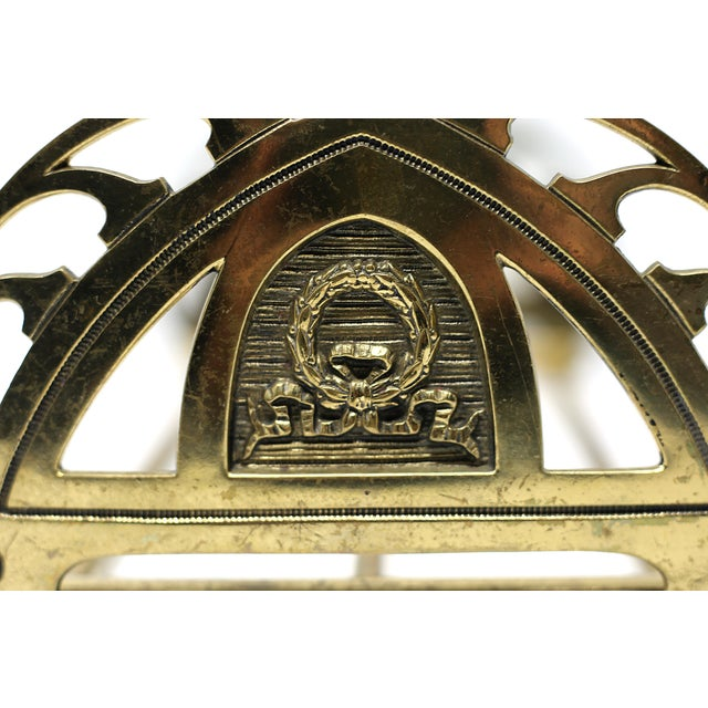 Vintage Folding Brass Wreath and Ribbon Book Holder For Sale - Image 4 of 10