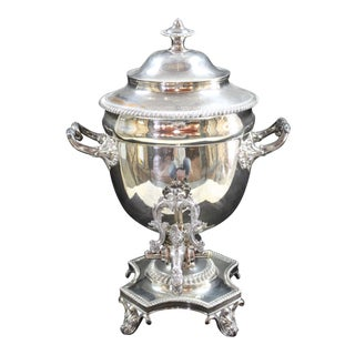 Sheffield Silver Plate Tea Urn For Sale