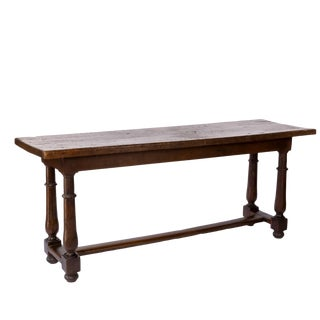Mid-19th Century French Oak Refectory Table For Sale