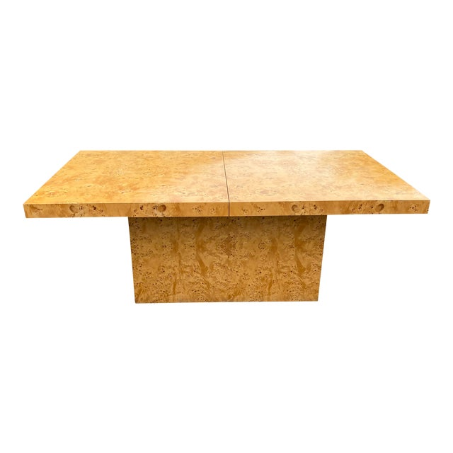 MidCentury Dillingham Burl Wood Dining Table For Sale