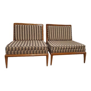 1960s Th Robsjohn Gibbings Low Chairs - a Pair For Sale