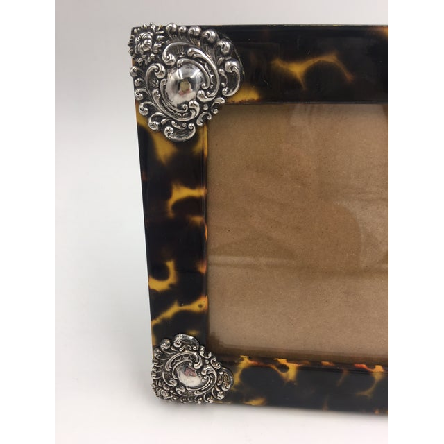 1980s Contemporary Linda Levinson Faux Tortoise Photo Frame For Sale - Image 5 of 9