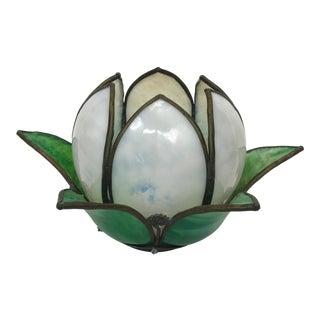 Vintage Slag Glass Tulip Light Shade