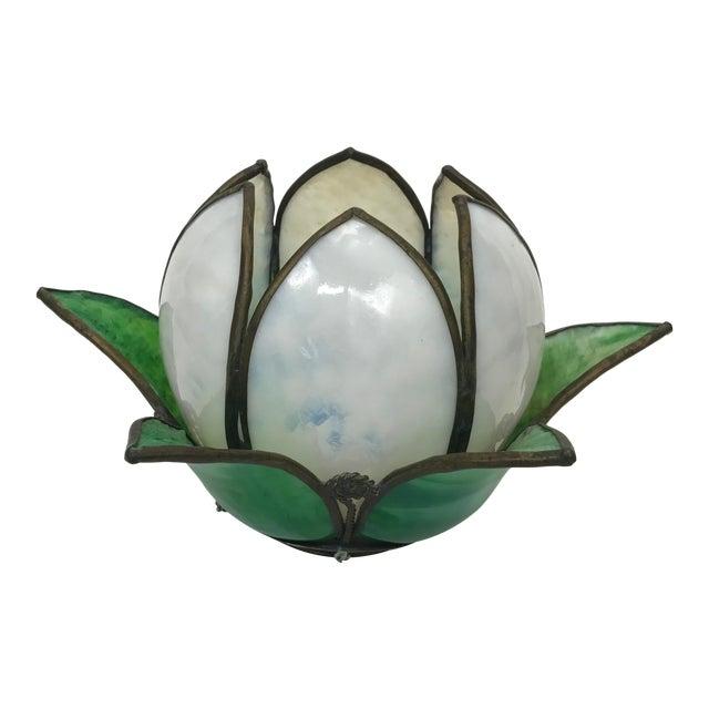 Vintage Slag Glass Tulip Light Shade - Image 1 of 8