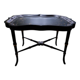 English Tole Tray Coffee Table For Sale