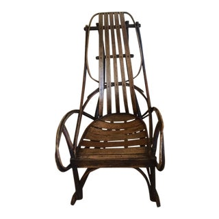 Antique Bentwood Amish Rocking Chair For Sale