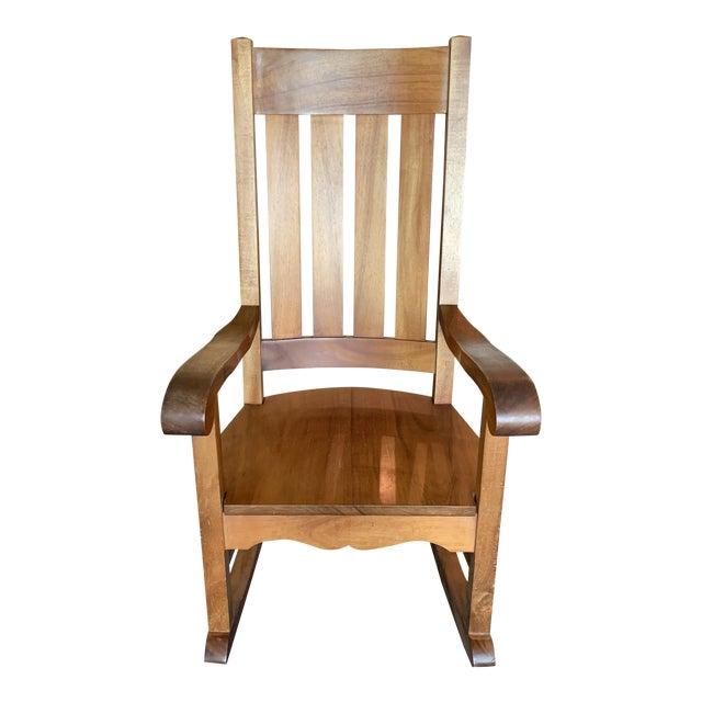 Remarkable 1980S Vintage Koa Wood Rocking Chair Chairish Machost Co Dining Chair Design Ideas Machostcouk