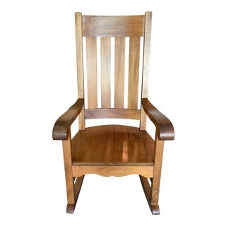 Koa Wood Rocking Chair For Sale