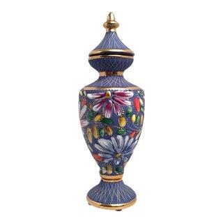 Vintage Belgium Porcelain Vase by Hubert Bequet For Sale
