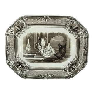 Late 19th Century Transfer Ware Platter For Sale