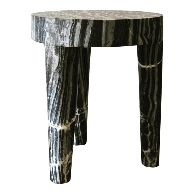 Post Modern Sculptural Marble Accent Table (2 Available) For Sale