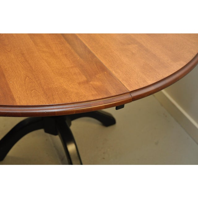 Shermag Shermag Round Pedestal Dining Table For Sale - Image 4 of 7