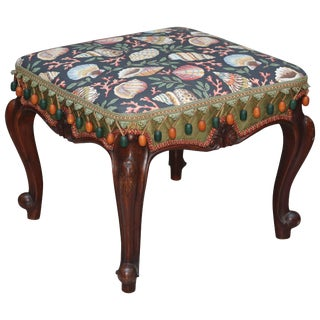 Shell Motif Country French Bench For Sale