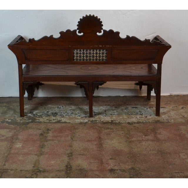 1940s Vintage Syrian Bench For Sale - Image 9 of 10