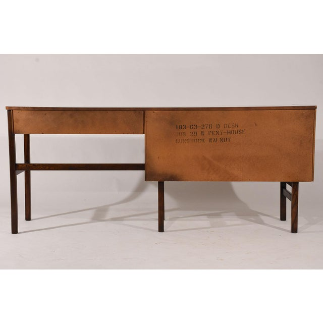 Brown Mid-Century Modern-style Desk by Basset Furniture For Sale - Image 8 of 8