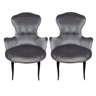 A Pair of Italian Bedroom Chairs For Sale