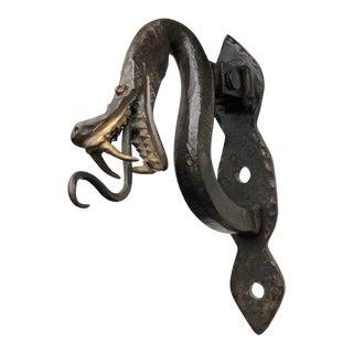 Iron Serpent Door Knocker For Sale