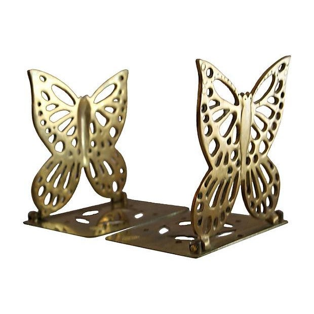 Brass Butterfly Bookends - a Pair - Image 1 of 5