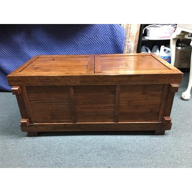 Vintage Sliding Top Trunk Table For Sale - Image 4 of 10