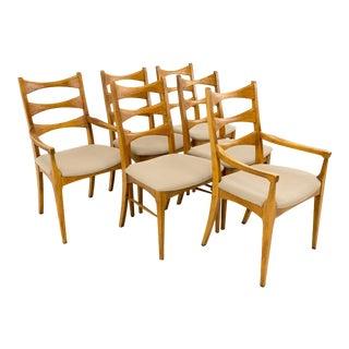 Mid-Century Modern Lane Rhythm Ladderback Dining Chairs - Set of 6 For Sale