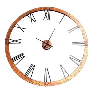 Large Scale Copper Wall Clock For Sale