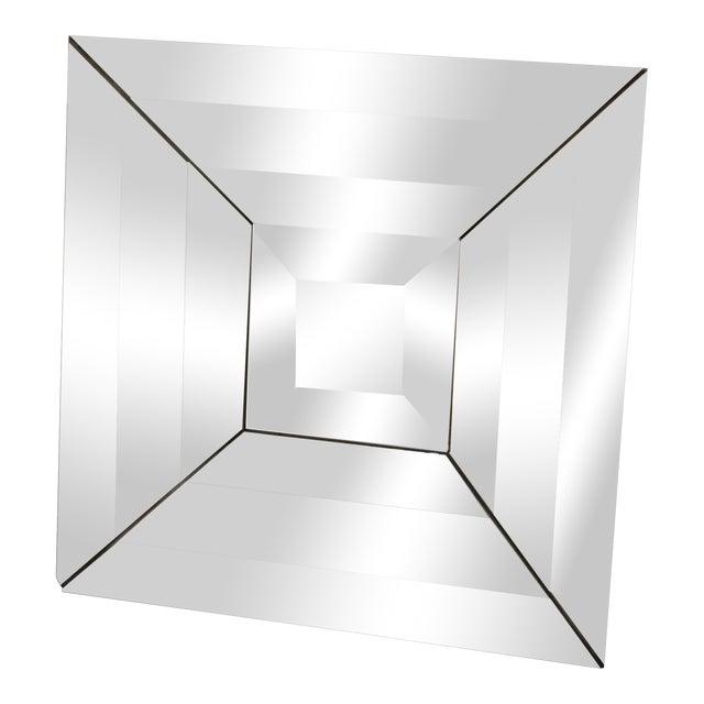 Mid Century Modern Italian Beveled Op Art Mirror - Image 1 of 11