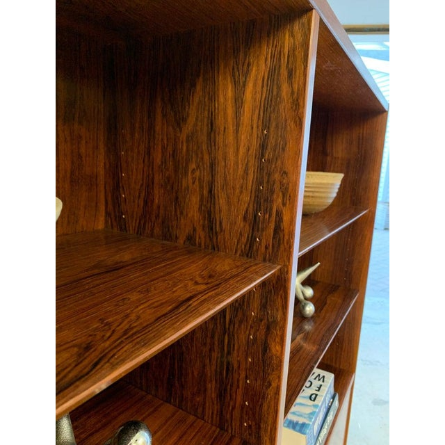 Brown Danish Mid Century Modern Rosewood Bookcase / China Cabinet For Sale - Image 8 of 11
