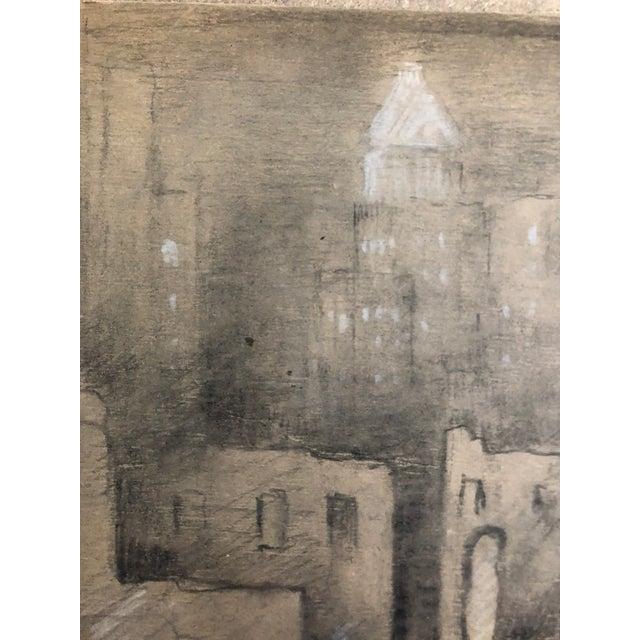 "1954 Vintage Eliot Clark ""Demolition for the Guggenheim Museum"" Drawing For Sale - Image 4 of 9"
