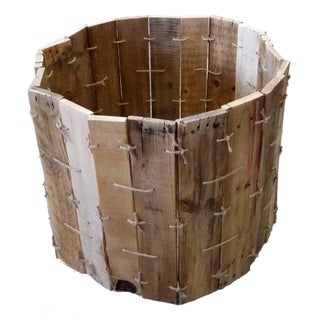 Pallet Wood Flexible Shape Storage Bin