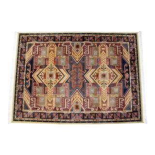 1990s Vintage Wool Mirage Area Rug- 5′6″ × 7′9″ For Sale