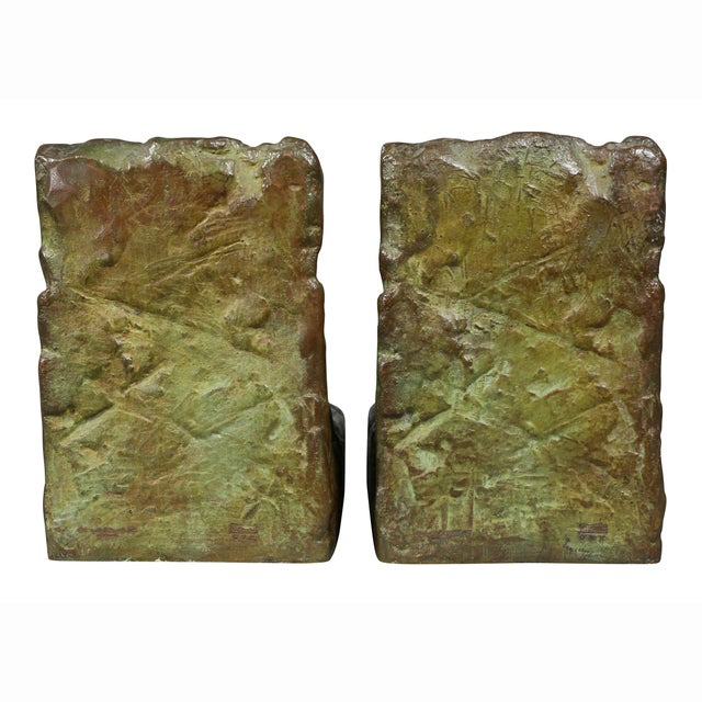 Bronze Animalier Bookends Retailed by Theodore B Starr Inc. - a Pair For Sale - Image 9 of 12
